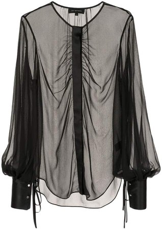 Mathews sheer longsleeved blouse