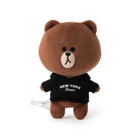 """[LINE FRIENDS] NEW YORK Edition Brown Bear 18cm 7"""" Toy Plush Doll /For Best Gift 8992425682454 