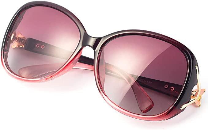 Amazon.com: RayLove Retro Classic Polarized Sunglasses for Women,UV400 Lens sunglasses for female fashion Pop Sun Eye Glass: Clothing