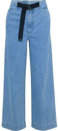 Belted High-rise Straight-leg Jeans