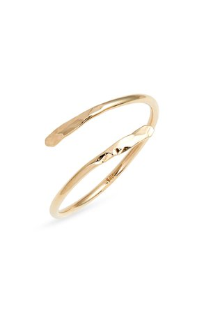 Poppy Finch Hammered Gold Spiral Ring | Nordstrom