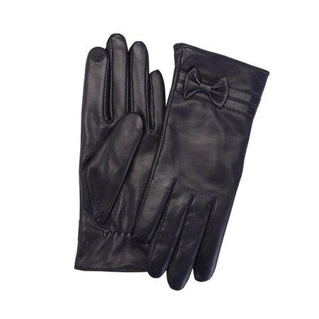 Royce Premium Lambskin Women's Medium Black Leather Touchscreen Gloves-1010-BLMD-1 - The Home Depot