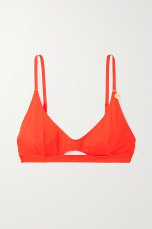 Cutout Bikini Top - Orange
