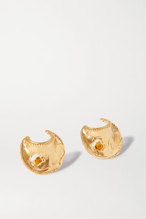 Alighieri | The Shield of Poetry gold-plated earrings | NET-A-PORTER.COM