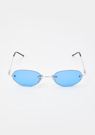 Good Times Eyewear Blue Remi Sunglasses | Dolls Kill