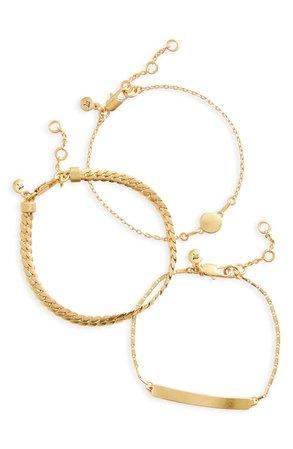 Madewell 3-Pack Chain Bracelet Set | Nordstrom