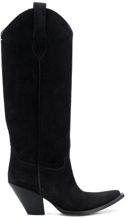 knee length Western boots