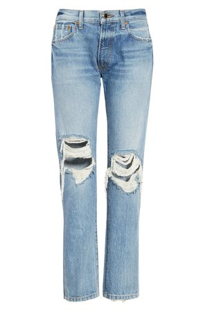 Khaite Kyle Ripped Relaxed Jeans (Portland) | Nordstrom