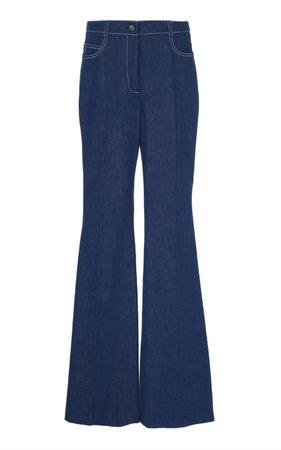 Akris High-Rise Flare-Leg Jeans