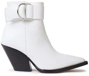 Arez Buckled Leather Ankle Boots