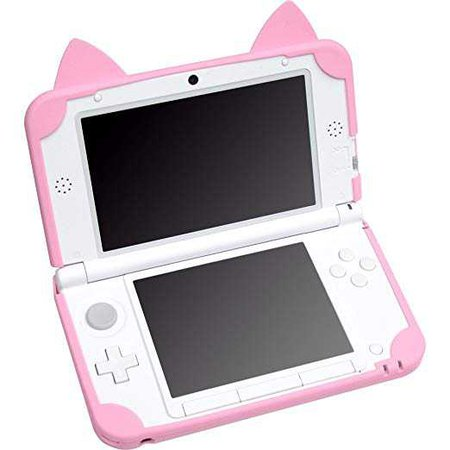 Nyan CYBER / silicon cover cat (for 3DS LL) pink: Video Games