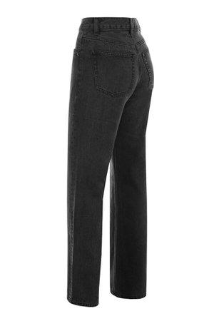 Clothing : Trousers : 'Yara' Black Vintage Fit High Waist Jeans