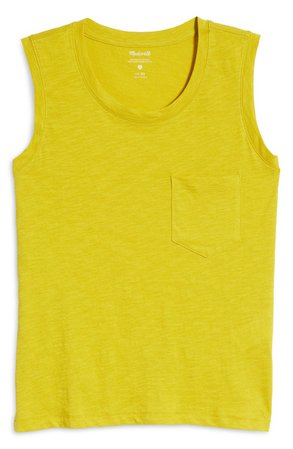 Madewell Whisper Pocket Cotton Muscle Tank | Nordstrom