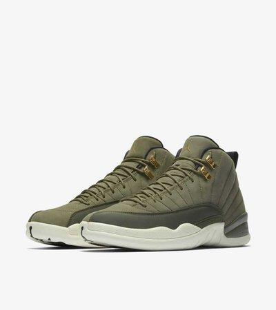 Air Jordan 12 Retro 'Olive Canvas & Metallic Gold' Release Date Nike+ SNKRS