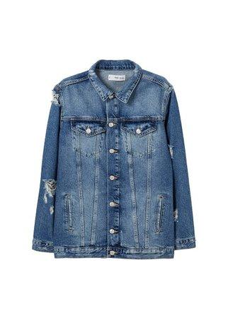 MANGO Oversize denim jacket