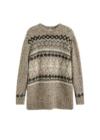 MANGO Jacquard knitted sweater