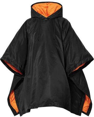 Oversized Hooded Shell Down Jacket - Black