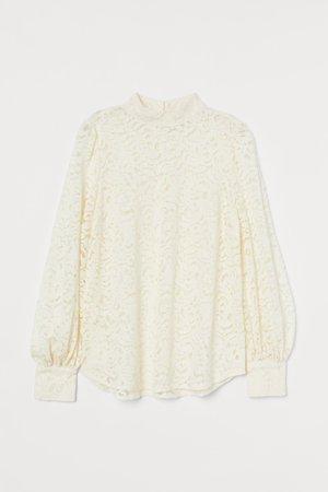 Lace Blouse - Cream - Ladies | H&M CA