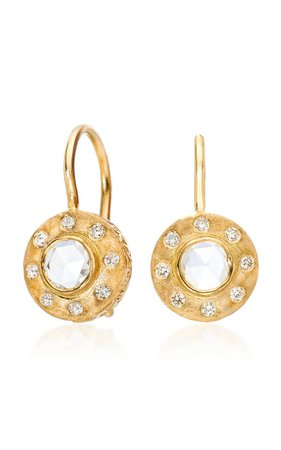Dunes 18k Yellow-Gold and Diamond Drop Earrings by Sethi Couture | Moda Operandi