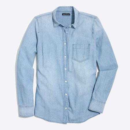 Chambray shirt in perfect fit