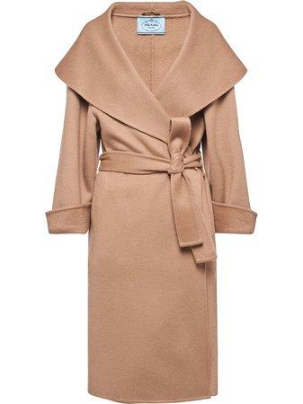 Prada belted cashmere coat - FARFETCH