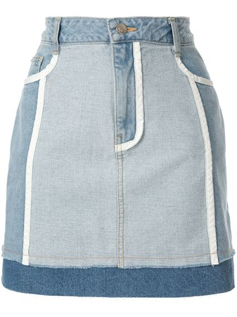 Sjyp White Lined Denim Skirts | Farfetch.com