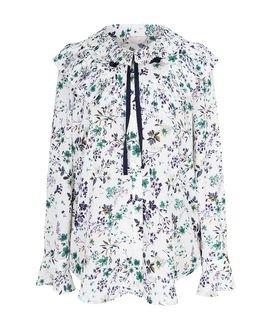 [Lovelyz Yein][Starfashion] JJ JIGOTT Pleats Floral Blouse Ivory GJ4A0BL8160   MOMOKorea.com