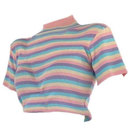 pastel rainbow shirt