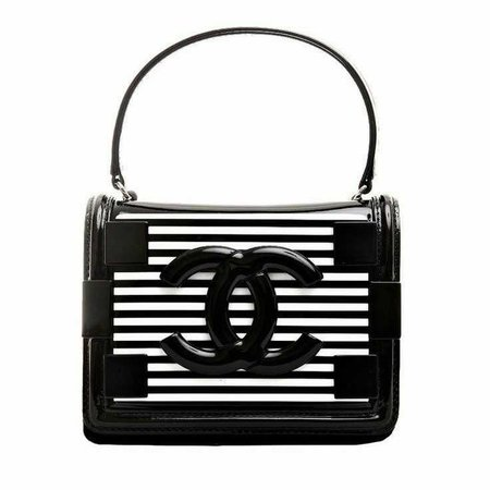 Chanel Black And White Purse