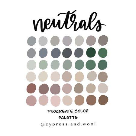 Neutrals Color Palette