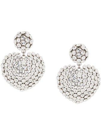 Alessandra Rich Oversized Heart Charm Earrings - Farfetch