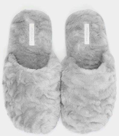 grey slippers