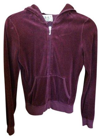 Juicy Couture Burgundy Track Jacket Sweatshirt/Hoodie Size 8 (M) - Tradesy