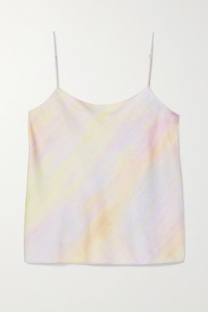 Printed Satin Camisole - Pink