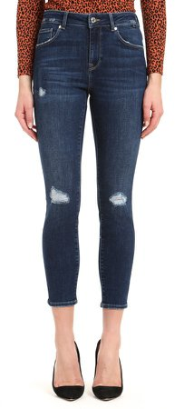 Tess Ripped High Waist Ankle Skinny Jeans