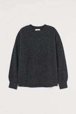 Fine-knit Sweater - Dark gray - Ladies | H&M US