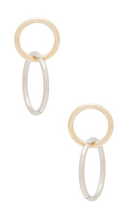 The M Jewelers NY The Floaris Hoop Earring in Two Tone | REVOLVE