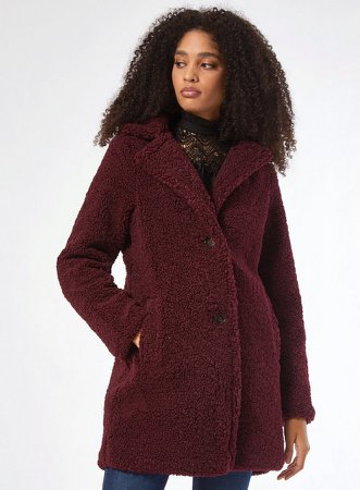 Mulberry Long Teddy Coat