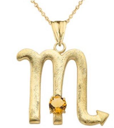 Satin Gold Scorpio Necklace