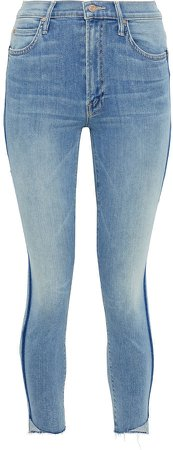 The Stunner Cropped Striped High-rise Skinny Jeans