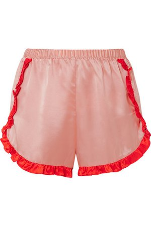 Morgan Lane   Esti two-tone silk-charmeuse pajama shorts   NET-A-PORTER.COM