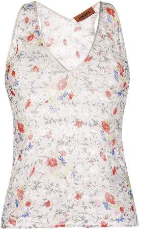 Floral Knit Tank Top