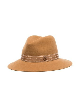 Maison Michel Camel Henrietta Wool Felt Hat - Farfetch