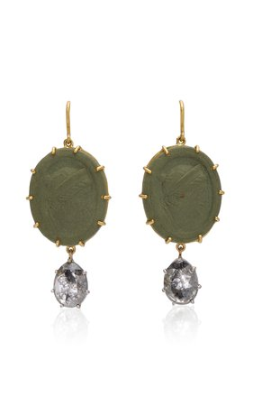 Sylva & Cie One of a Kind 18K White and Yellow Gold Diamond Earrings