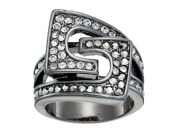 GUESS - 95105-21C (Crystals/Gunmetal) Ring