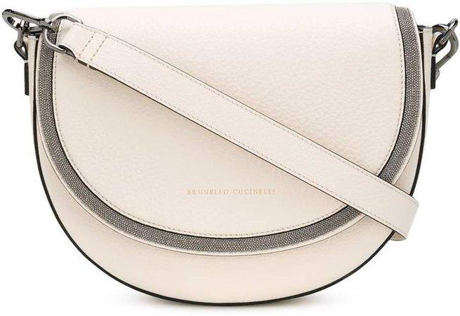 Embellished Saddle Shoulder Bag