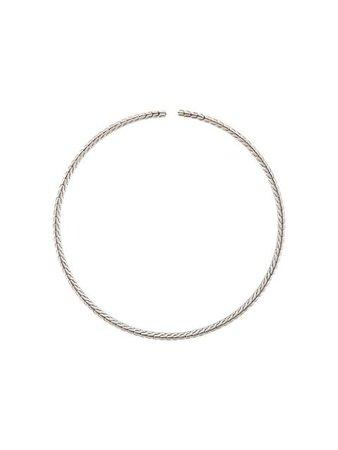 Silver John Hardy Classic Chain Choker Necklace | Farfetch.com