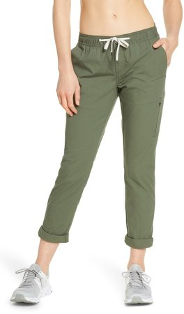 Drawstring Stretch Cotton Pants