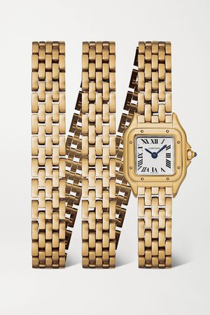 Gold Panthère de Cartier 20mm small 18-karat gold watch | Cartier | NET-A-PORTER