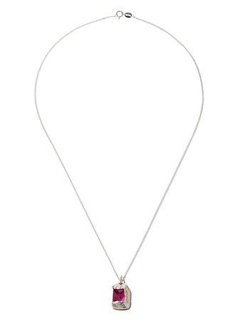 Bleue Burnham 9kt yellow gold The Rose pendant necklace - FARFETCH